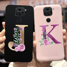 For Xiaomi Redmi Note 9 Case Note9s Soft TPU Cute Letters Phone Case For Xiaomi Redmi