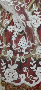 Image 2 - White Latest Nigerian Tulle Lace 2020 French Net Tull Lace Fabric For Nigerian Wedding Embroidery African Lace Fabric L G006