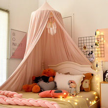 Nordic Style Princess Mosquito Net Bed Valance Kids Baby Bed Room Hung Dome Mosquito Net Curtain Bedding Dome Tent Decorative