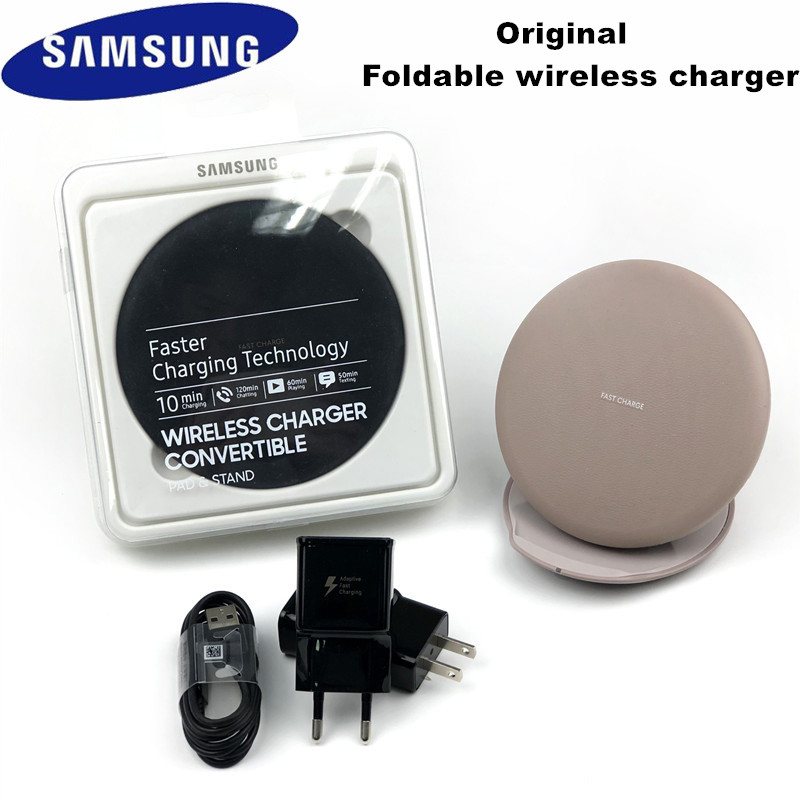Samsung Fast Wireless Charger Original Qi Smart Charge adapter for Galaxy S8 S9 S10 Plus Note 9 10 + iPhone 8 X XR XS Max 11 pro