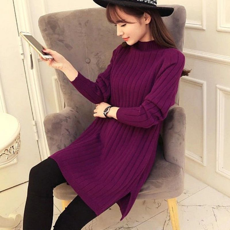 Women Winter Thick Warm Women Turtleneck Sweaters And Pullovers Knit Long Sleeve Sweater Female Jumper Tops