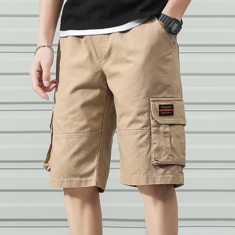 Anbican Fashion 2020 Summer Cargo Shorts Men Cotton Casual Shorts Male Loose Short Pants