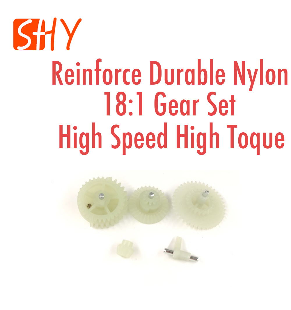Ver.2 Ver.3 Gear Box Parts Reinforce Durable Nylon 18:1 Gear Set High Speed High Toque For Water Gel Ball Blaster AEG Airsoft