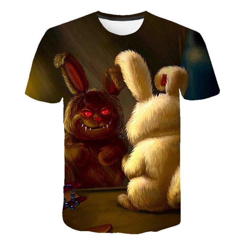Meninos camiseta verão trevas 3d design de impressão 2019 crianças t-shirt para o menino do bebê partes superiores das meninas caçoa o tshirt criança camisetas vestir