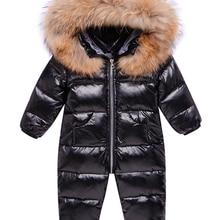 Jacket Park Overalls Snowsuit Baby Winter Down for Kids Girl Coat Wear Russia Infant