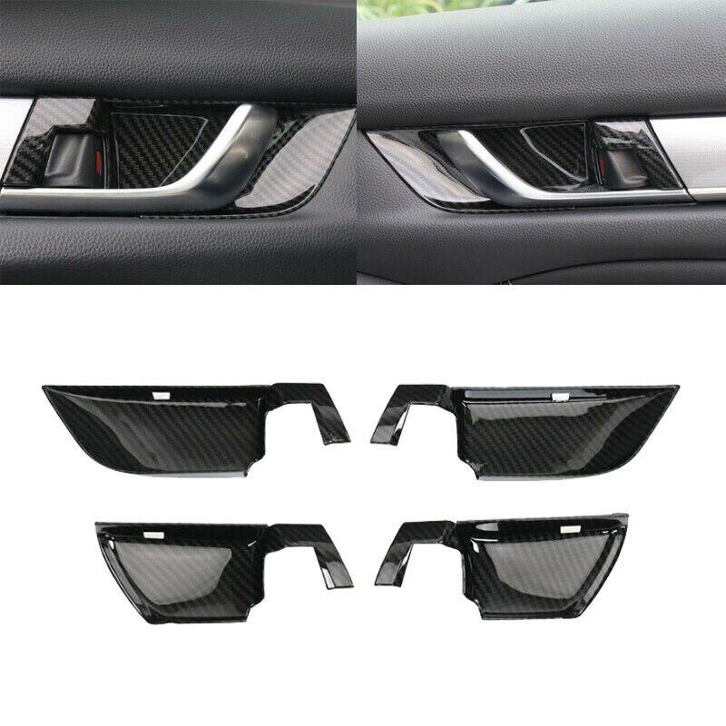 Carbon Fiber Internal Door Handle Bowl Cover Trim for Honda Accord 2018 2019 Car Accessories|Caps  Rotors & Contacts| |  - title=