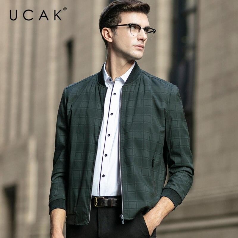 UCAK Brand Men Clothes Jackets Casual Zipper Chaquetas Hombre 2020 Spring New Arrival Blouson Homme Mens Clothing Coats U8082
