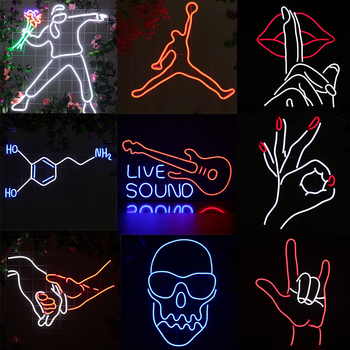 Custom Name Neon Light Sign Led Anime Guitar, Superman,hands ns Wall Hanging Decor Bar Wedding Dedroom Personalized Gift For Her недорого