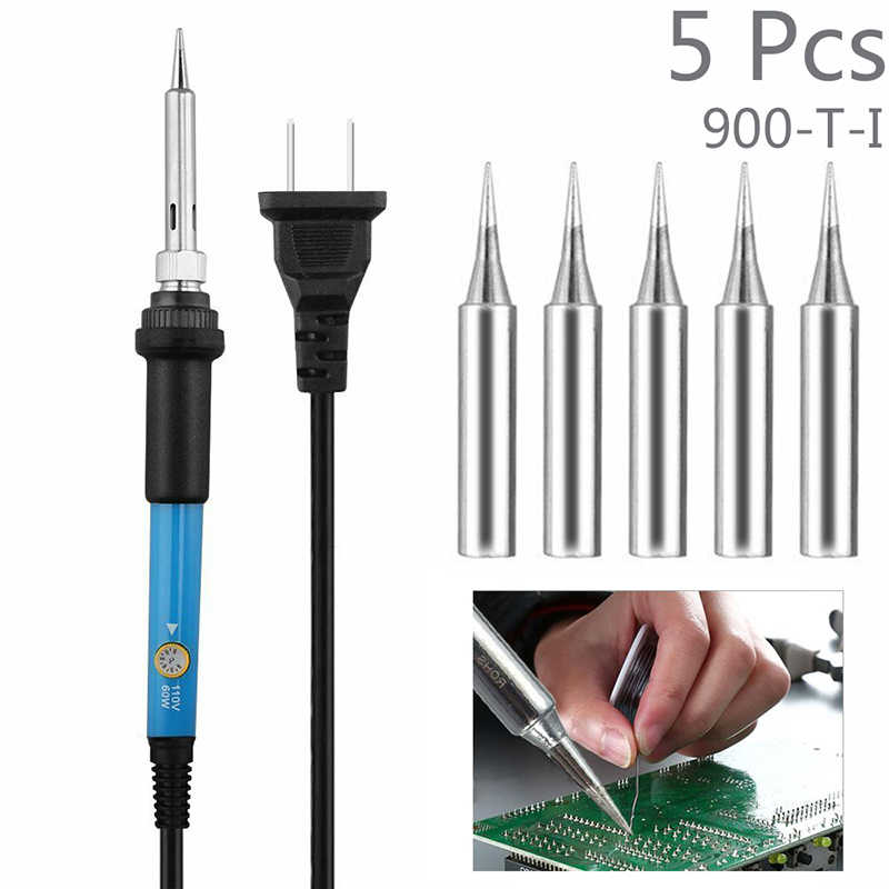 5PCS Soldering Iron Replacement Iron Tool Set Solder Tips HIgh Precision