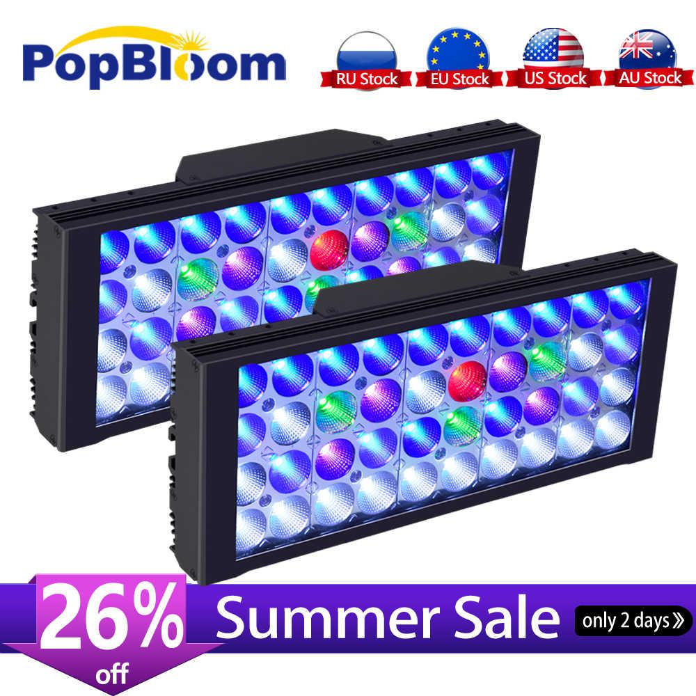 PopBloom oświetlenie Led do akwarium oświetlenie marynistyczne Led oświetlenie Led do akwarium rafa Led światło akwarium Led zbiornik światło do lampa do akwarium Turing30