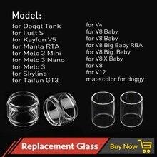 Volcanee 1pc פיירקס זכוכית צינור החלפה עבור V12 אני פשוט S מאנטה להרכבה עצמית מרסס Vape סיגריה אלקטרונית טנק