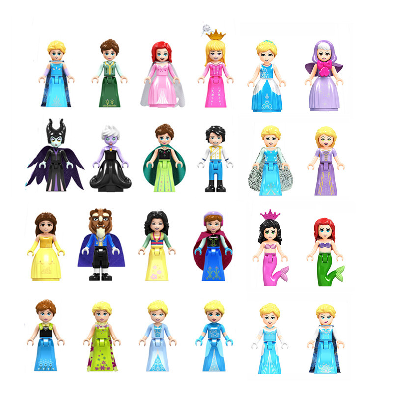 Toys Dolls Building-Blocks Princess-Figure Anna Elsa Friends Andrea Children Stephanie