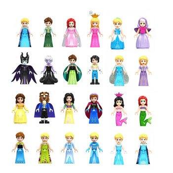 Friends Princess Figure Toys Olivia Mia Kate Stephanie Emma Andrea Elsa Anna Friends Dolls Building Blocks Toys For Children 1