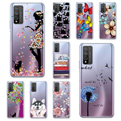 Чехол для Huawei Honor 10X Lite, силиконовые прозрачные чехлы Etui Huawei P Smart 2021 2019 Honor10i Y9A PSmart 2020, Обложка, чехлы