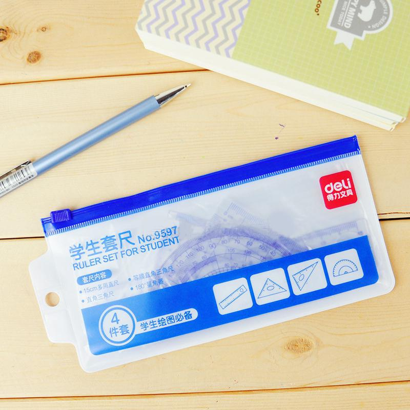 Kuulee Maths Geometry Stationery Ruler Set Squares Protractor