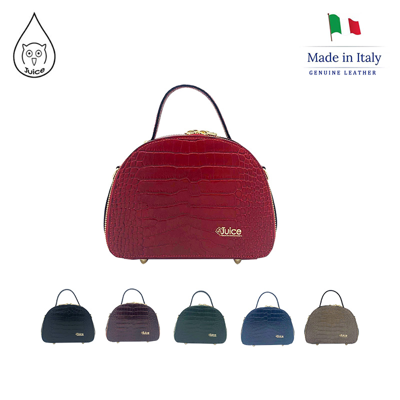 JUICE ,made In Italy, Genuine Leather , Women Bag,handbag/cross Body,Cocco Print Leather 112208