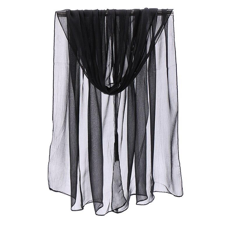 Однотонная одежда шарф Шелковый креп-Жоржет хиджаб для женщин легкий тюрбан летняя Солнцезащитная шарфы 2021 новый дизайн Поддержка оптовая ...