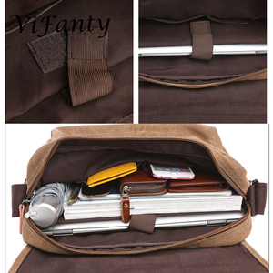 Image 5 - Different size Canvas Messenger Bag School Crossbody Bag Shoulder Bags