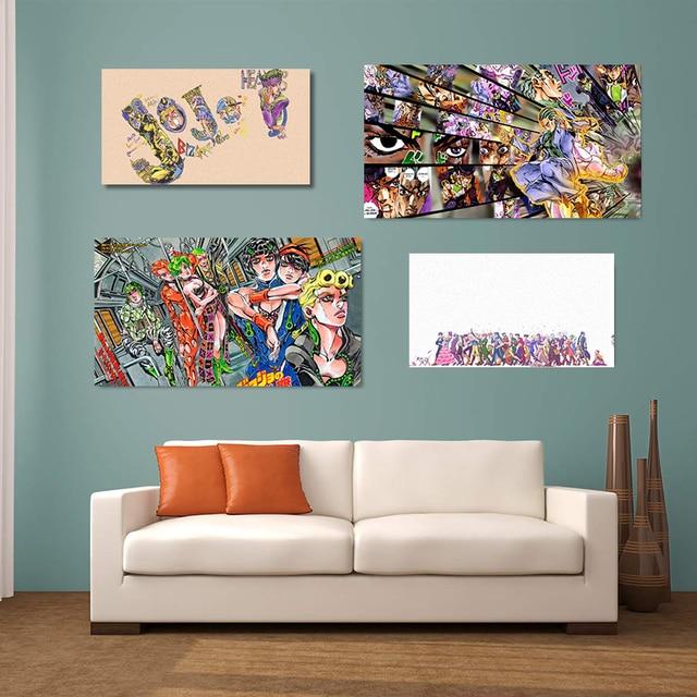 JoJo's Bizarre Adventure Poster Wall Art Decoration prints Canvas for Dorm living room Home kids bedroom decor Painting 2