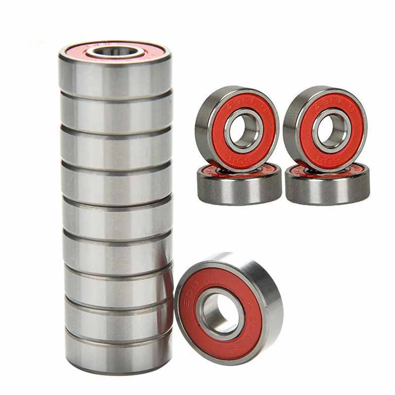 1PC Stainless Steel Bearings Red Silver ABEC 9 High Performance Roller Skate Scooter Skateboard Wheel Bearings