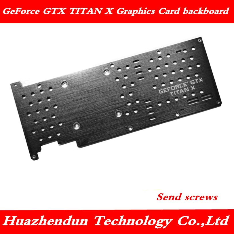Metal Graphics Card Protection Backplane GEFORCE GTX Titan GTX TITAN X Public Version Insulation Back Plate Distribution Screw