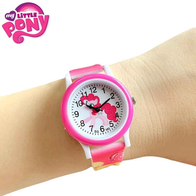 2020 New My Little Pony Silicone Band Children Watch Girl Cute Cartoon Quartz Watch Wrist Watch Birthday Toy Gift