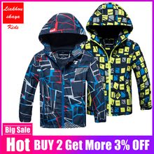 Liakhouskaya 2018 Children Boys Jacket 4 15T Winter Autumn Outerwear Coats Kids Polar Fleece Windproof Waterproof