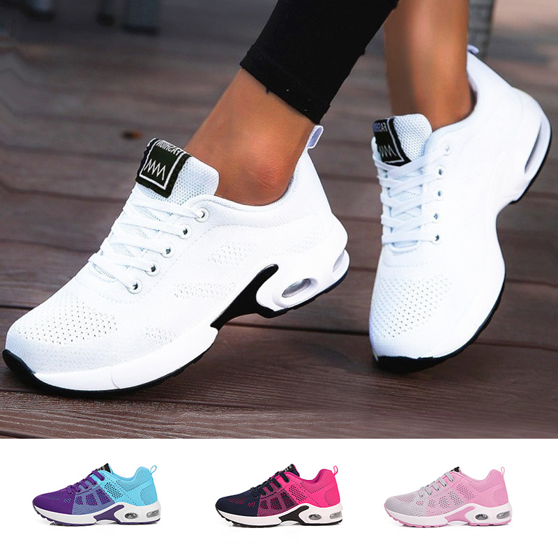 Ladies Trainers Casual Mesh Sneakers Pink Women Flat Shoes Lightweight Soft Sneakers Breathable Footwear Basket Shoes Plus Size|Women's Vulcanize Shoes| - AliExpress