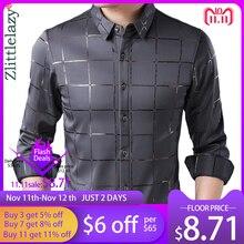 2020 Merk Casual Lente Luxe Plaid Lange Mouwen Slim Fit Mannen Shirt Streetwear Sociale Jurk Shirts Heren Fashions Jersey 2309
