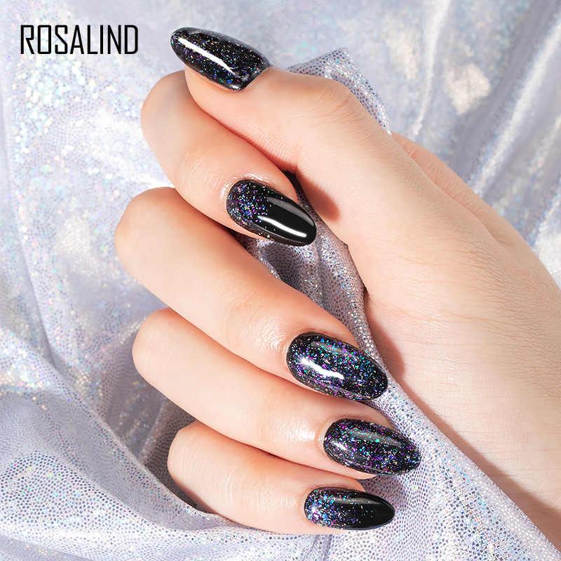 ROSALIND Gel brillante barnices híbridos esmalte de uñas de Gel platino UV LED superior Semi permanente uñas laca híbrida Gellak para manicura