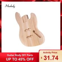 Muslady JB-T02 незавершенный корпус гитары diy части Platane деревянный пустой корпус гитары для JB стиль бас гитары аксессуары для гитары