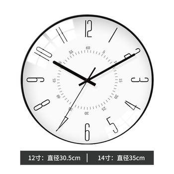 Creative Large White Black Wall Clock Nordic Bedroom large Modern Design Wall Clocks Decorative Living Room home decor II50BGZ