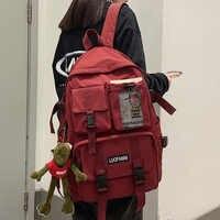 Mochila de nailon para hombre y mujer, bolso escolar de malla de viaje para estudiantes y estudiantes, para ordenador portátil, a la moda