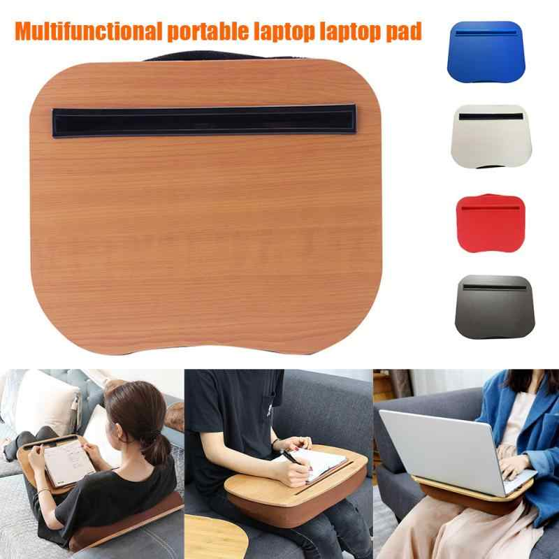 pc tablet desk bed cushion knee lap handy computer reading writing table tablet tray cup holder laptop stand pillow office desk