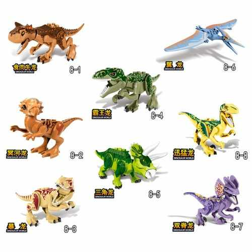 Per il Bloccaggio di Triceratops Jurassic World Figure Pterosauro Big Size Set di Blocchi di Costruzione di Dinosauro Giocattolo Animale Dinossauro Animali Kit