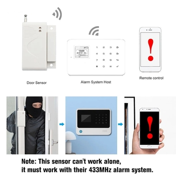 43hz Door Window Alarm Sensor Wireless Automation Home Intrusion Detector Anti-Theft Alarm for Smart Home Security Alarm Syste free shipping latch anti theft alarm door window sensor easy using portable light alarm self defense for housing safety