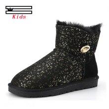 2019 winter australia sheepskin children boots girls child intl Brand snow kids fashion s shoes #14