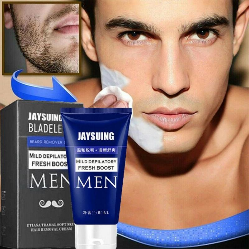 Крем для удаления волос JAYSUING для мужчин, мягкая свежая Депиляционная паста для удаления усов и бороды, натуральный мягкий крем унисекс для у...