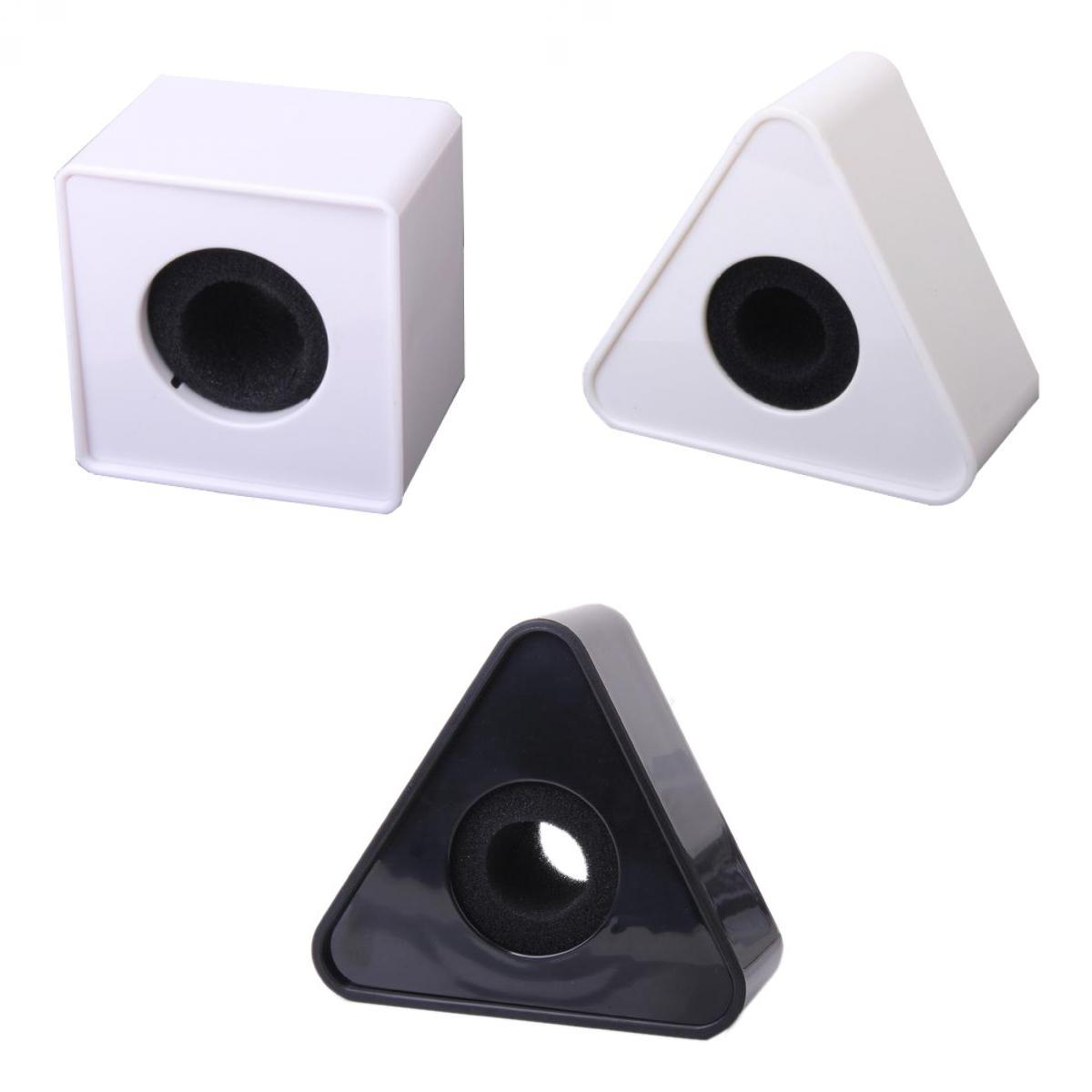 3pcs ABS Mic Microphone Interview Square Cube Logo Flag Station