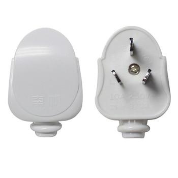 цена на AU Plug AC Power Charger Adapter 10A 250V Connector Cable Electrical Power Plug White Male Converter Adaptor Detachable Plug