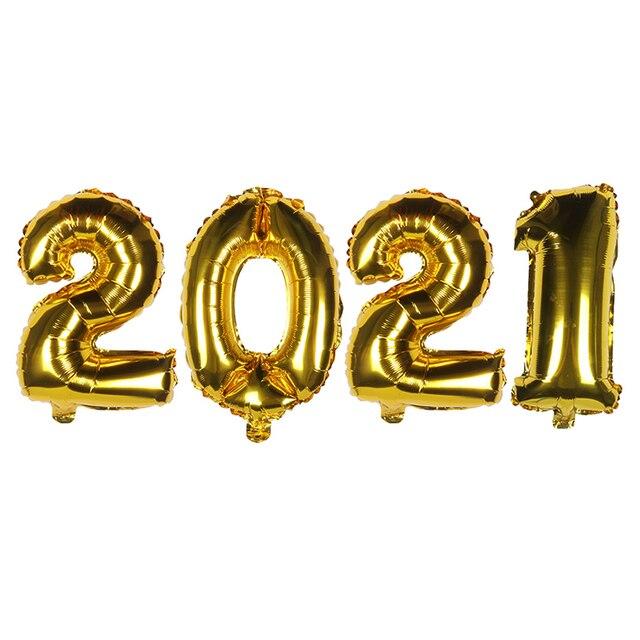 Фото 2021 набор фольгированных шаров с цифрами гелиевые шары новогодние цена