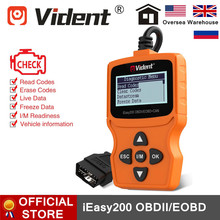 VIDENT IEasy200 OBDII/EOBD + สามารถรหัสเครื่องยนต์OBD2 เครื่องสแกนเนอร์ที่พูดได้หลายภาษาฟรีUpdate PK ELM327