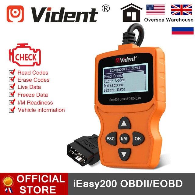VIDENT iEasy200 OBDII/EOBD + CAN kod okuyucu motoru OBD2 tarayıcı çok dilli ücretsiz güncelleme PK ELM327