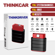 Thinkcar thinkdriver obd2 scanner de carro 15 redefinir automotivo sistema completo ferramenta de diagnóstico ler código claro auto 3 vin livre pk ap200