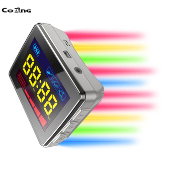 Medical LLLT Laser Acupuncture Watch Stimulator with the Red Yellow Blue Green Light Laser Therapy