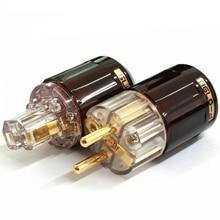 цена на Oyaide C-079 P-079e Schuko Europe EU Power Plug 24k Gold Plated IEC Audio Connector Female-Male MATIHUR audio Transparent hifi