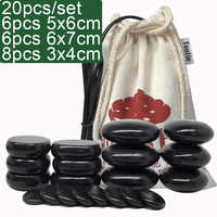 TONTIN Hot Massage Energy Body Basalt Stone set Beauty Salon SPA with Thick Canvas Heating bag 220 & 110 Volt CE and ROHS