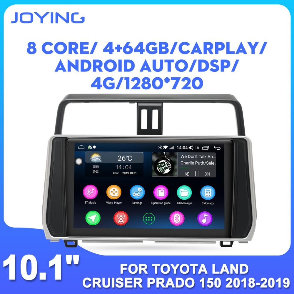 Android car GPS multimedia player stereo for <font><b>Toyota</b></font> Land Cruiser Prado <font><b>150</b></font> <font><b>2018</b></font> 2019 car <font><b>radio</b></font> carplay android auto head unit image