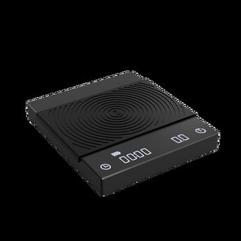 Основные электронные весы с черным зеркалом TIMEMORE, кофейные весы для эспрессо, смарт-весы, автоматические кухонные весы, 2 кг