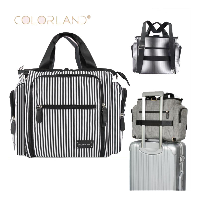 Colorland brand baby diaper bag dry and wet separation care storage Mummy pregnant women car